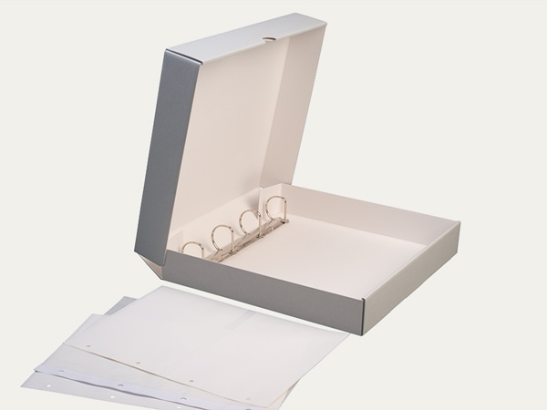 Clamshell boxes: KS 3 with filing mechanism