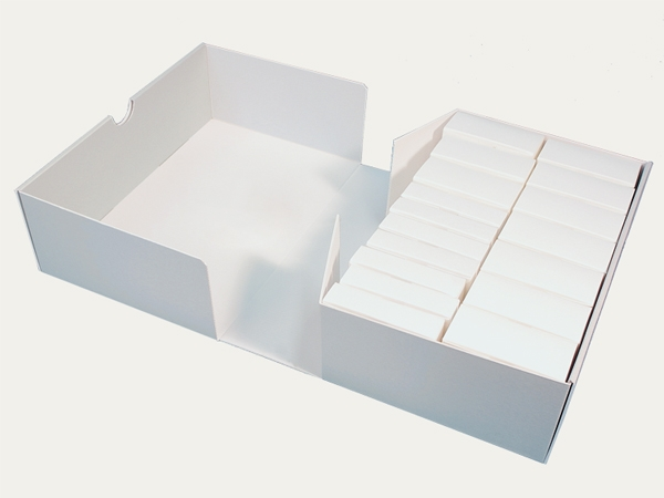 Folded boxes for film reels: for film reel storage
