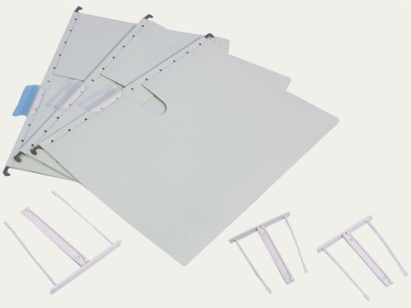Hanging file folders with filing mechanism: Hanging file folders with filing mechanism