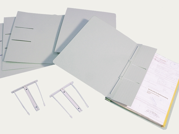 Folders with filing mechanism: Folders with filing mechanism
