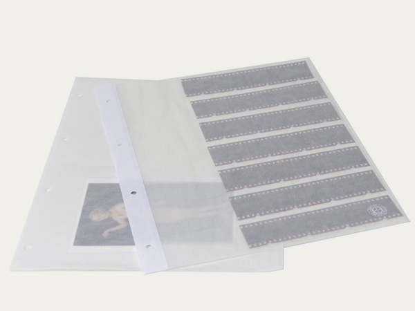 Binder pocket pages: – made from transparent paper